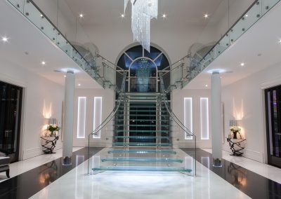 Feature Glass Art Staircase.