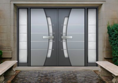 Bespoke Hi Tech Aluminium & Glass Door Design.