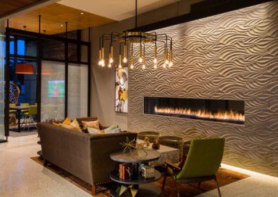 Bespoke Built In Bio E Fire In Home Lounge.