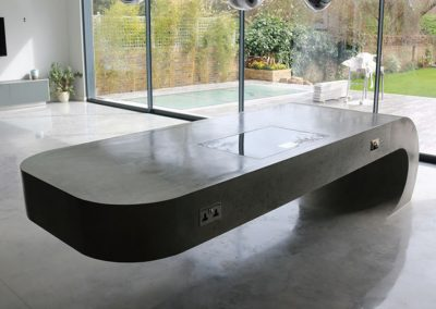 Centre Piece Floating Concrete Island. Also Available For Bar Design.