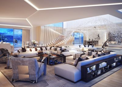 Living Spaces With Sculptural Theme.
