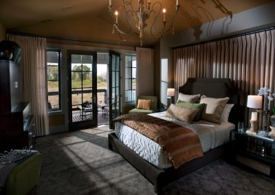 Master Bedroom Design With Fine Finishes & Fabric.