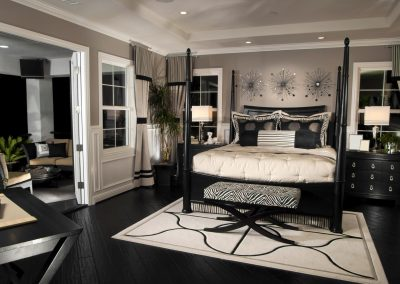 Master Bedroom With French Doors & Modern Finishing.