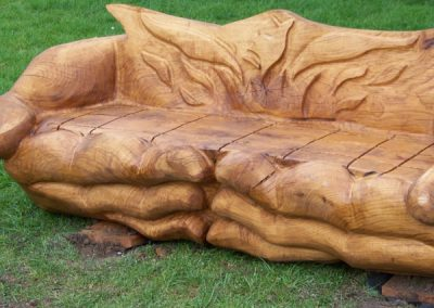 Timber Hands of Life Seating Sculpture.