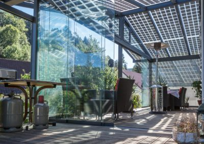 Solar Glass House Project.