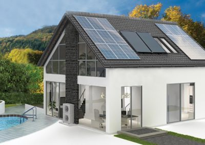 Solar PV Home With Air Source Heating System & Solar Thermal Hot Water.