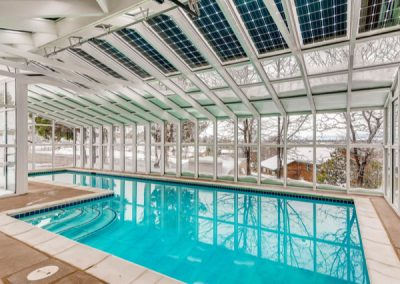 Solar Swimming Pool For Power Or Heating Of Water.