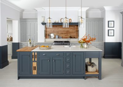 Painted Inframe Seal Grey & Gravel Kitchen.