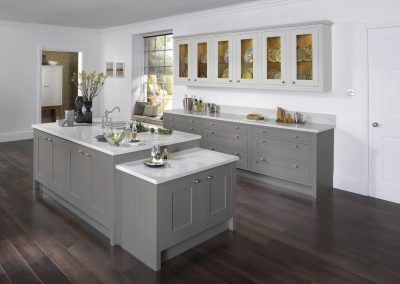 Painted Inframe French Grey Kitchen.