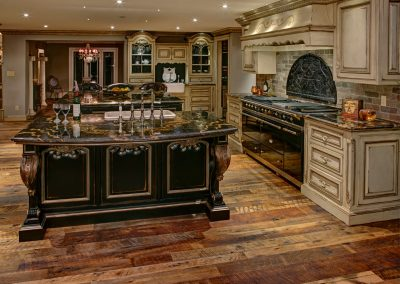 Lacanche Range In Traditional Themed Ornate Kitchen.
