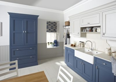 Painted Inframe Navy Blue Kitchen.