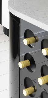 Resin Wine Rack Design In Black.