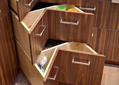 Easy Access Triple Drawer Corner Solution