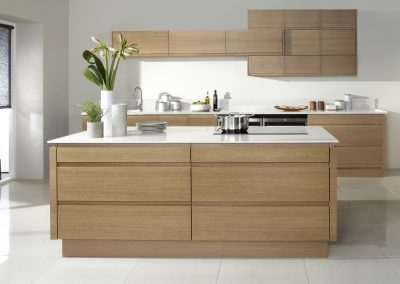 Natural Swedish Veneered Oak Kitchen.