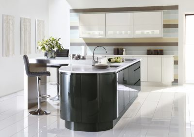 Gloss Anthracite & Ice Kitchen.