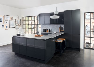 Gloss & Matt Anthracite Kitchen.