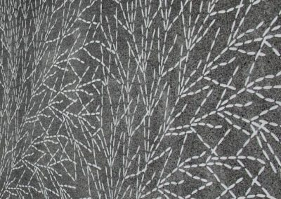 Branch Graphic on Concrete.