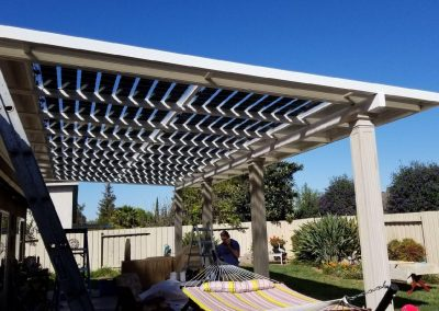 Lean To Solar Canopy Extension.