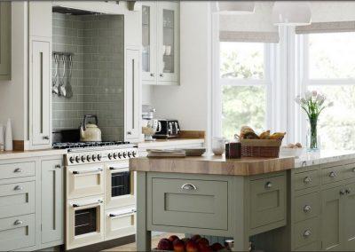 Inframed Painted Pistachio Kitchen.