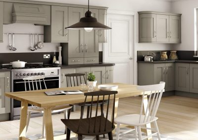 Painted Or Vinyl Dove Grey Or Cashmere Kitchen.