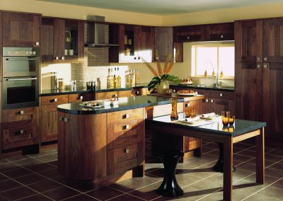 Black Walnut Shaker Kitchen.