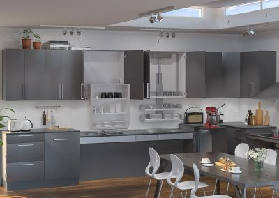 Height Adjustable Kitchen Design System.