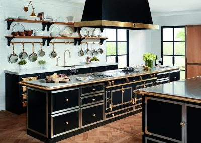 Trio of La Cornue & Matching Cabinetry.