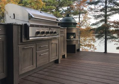 Patio Kitchen in Carbon Grey, Lakeside.
