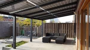Back Garden Solar Canopy.