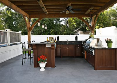 Backyard Grilling Kitchen Station.