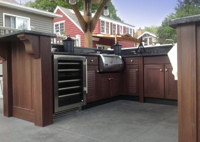 Patio Kitchen With Refrigeration.