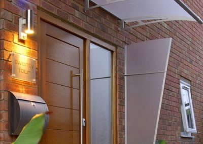 Contemporary Door Design. Click On Text Here To View Awnings, Shading & Canopy Covers.