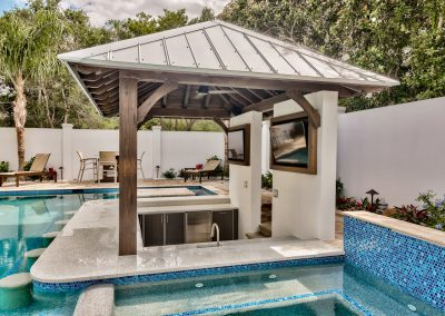 Solar Optional Patio Pool & HDR Mini Kitchen Design.