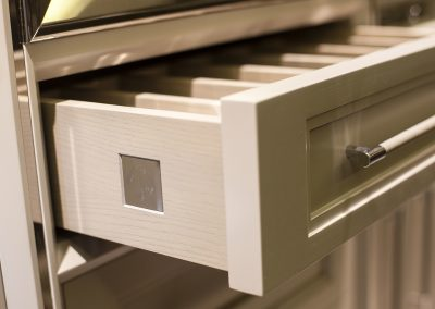 Bespoke Timber Drawers With Signature Plaque Were Included In The Kitchens Design.