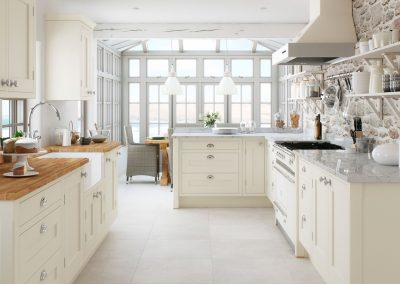 Painted Shaker Cream M Kitchen Inframe