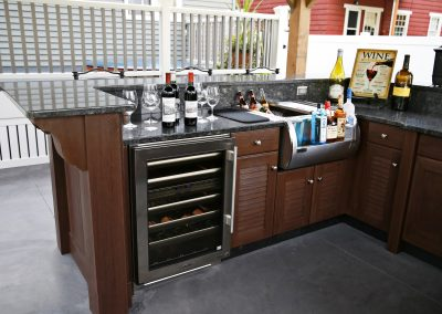 You Can Compliment Your Project With Our Water Resistant Patio Bar & Kitchens.