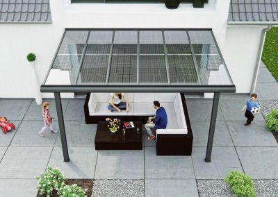 Birdseye View Canopy CAD Design.