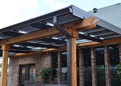 Solar Canopy Patio In Black.