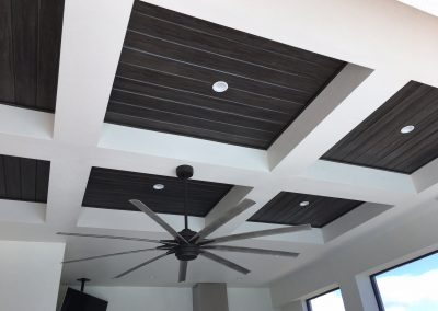 Our Weatherproof HDR Ceiling Cladding Is Available For Canopy Design Above Your Patio Kitchen & It Can Also Be Designed For Room Ceilings.