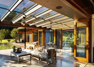 Outdoor Indoor Canopy Feature With Solar Compatibility.