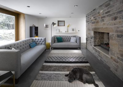 17th Century Barn Conversion Living Room Entry View.