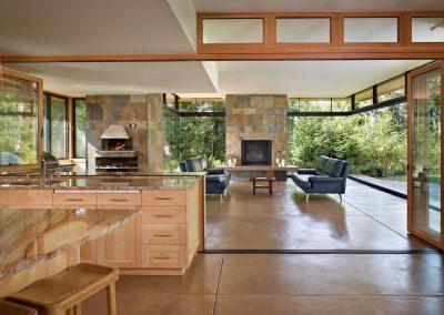 180 Glazed House Living Design.