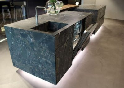 Sink & Appliance Integration Into Moss Stone Island.