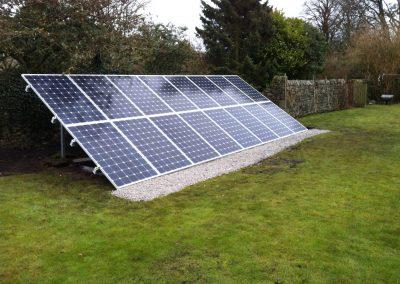 Client Ground Mounted Solar Installation.