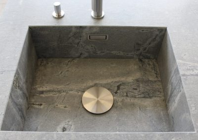 Canyon Grey Natural Stone Sink Fabrication.