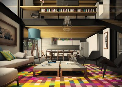 Adding Feature Colour To Living Space.