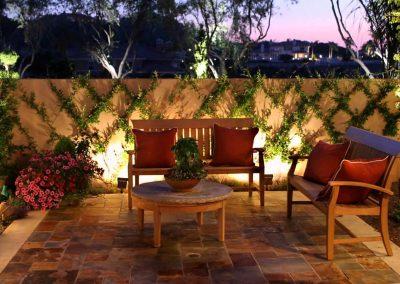 Back Yard Patio Tiling & Lighting Design.