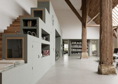 Barn Conversion Feature Timber Column & Living Space.