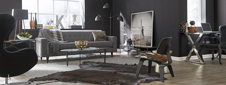 Black & Dusky Living Design.