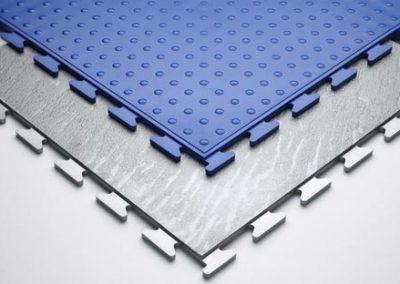Blue & Grey PVC Floor Surface.